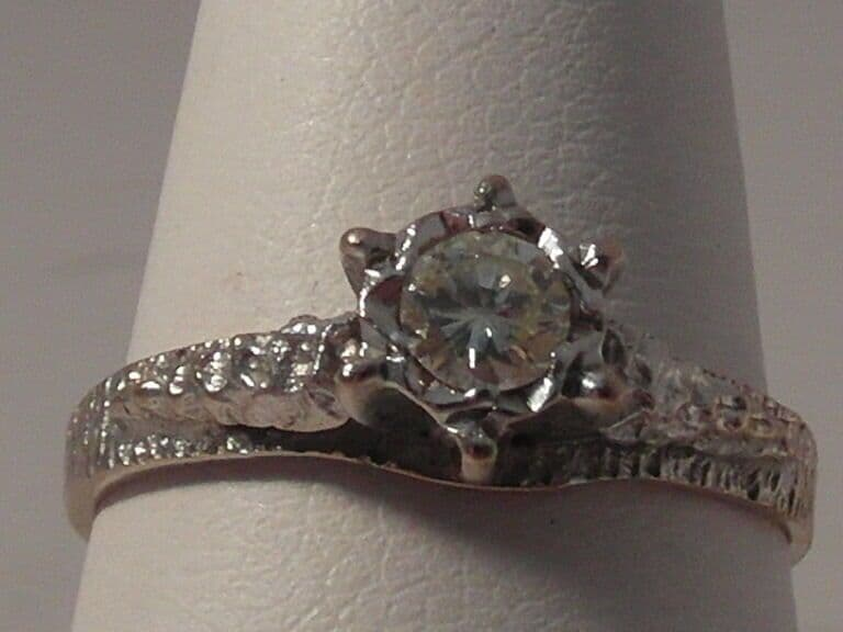 660F LADIES 18CT GOLD 1/4CT DIAMOND SI1 H SOLITAIRE ENGAGEMENT RING SIZE M